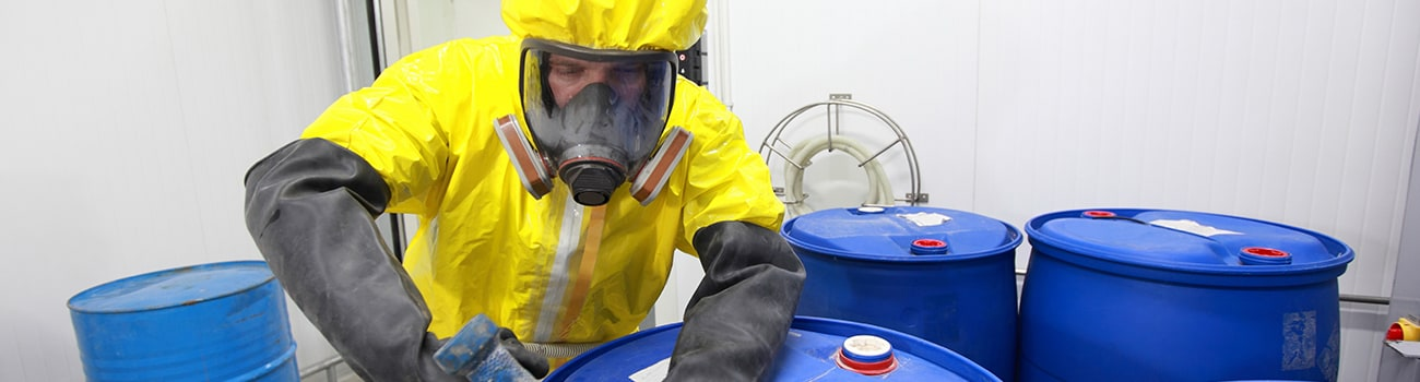 Man in Hazmat suit Photo