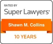 Shawn M. Collins Super Lawyers 10 Yearse Badge