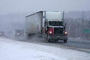 Truck in a Snowstorm